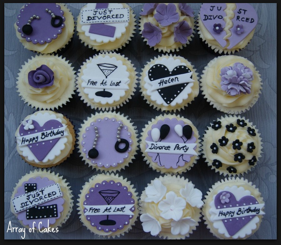 Cupcakes decorados divorcio